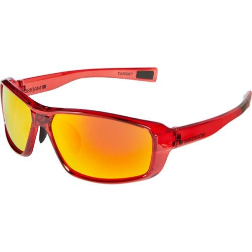 Madison Target Glasses Gloss Crystal Red Frame - Fire Mirror Lens