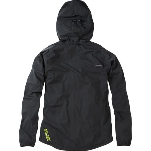 Madison Flux Mens Super Light Waterproof Softshell Black Jacket Rear