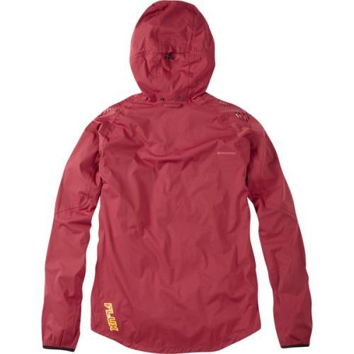 Madison Flux Mens Super Light Waterproof Softshell Blood Red Jacket Rear