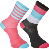 Madison Sportive Mens Mid Sock Black / Pink Twin Pack