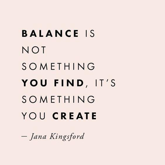 Let's Talk About Balance...