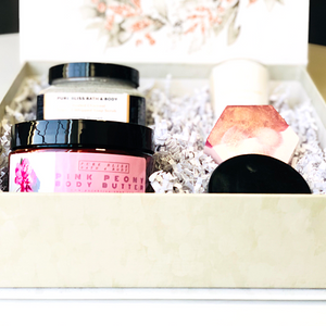 Pink Peony + Activated Charcoal Box Set