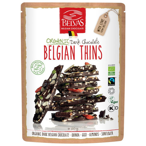 Belvas Belgian Thins- Quinoa Goji Almond & Sunflower