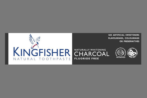 Kingfisher Toothpaste Charcoal Flouride Free