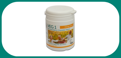 The Vegan Society VEG1 Chewable Vitamins