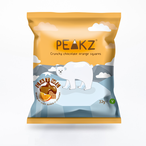 Peakz Crunchy Chocolate Orange Squares