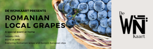 Romanian local grapes Online Tasting 29/01 freeshipping - De Wijnkaart Amsterdam