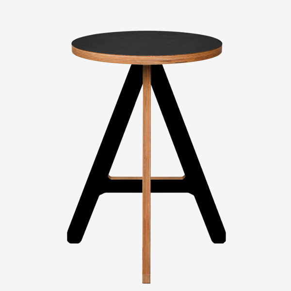 ByAlex 'A' Stool in black finished plywood