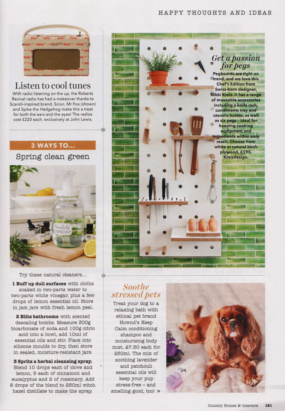 Country Homes & Interiors featuring Chef's Edition Pegboard