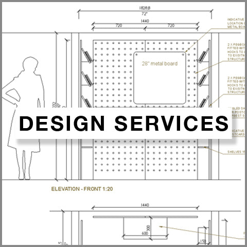 design services by kreisdesign to plan your shop merchandising or event with pegboard display systems