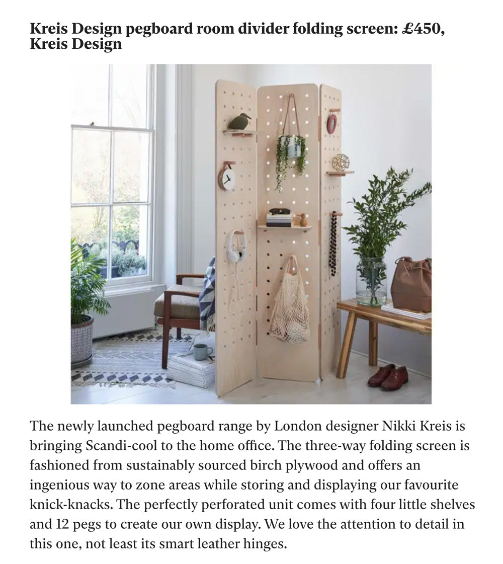 The Independent features Kreisdesign freestanding wooden room divider