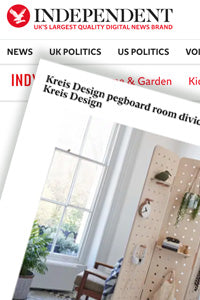 The Independent features Kreisdesign freestanding room divider