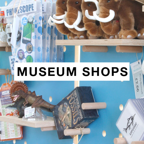 Museum Shops with bespoke painted pegboards for display merchandise by Kreisdesign