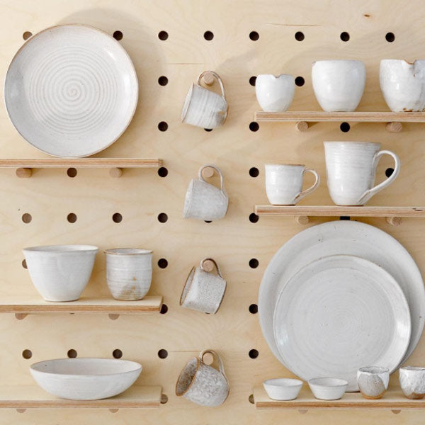 Nom Living display with pegboard