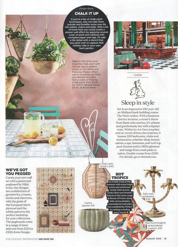 Real Homes Magazine features our latest patterned pegboard collection - with the 3D pattern printed birch plywood pegboard