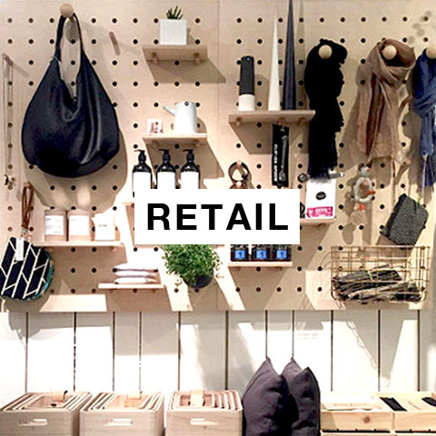 Retail projects with bespoke pegboards by Kreisdesign