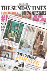 The Sunday Times features Kreisdesign freestanding room divider pegboard