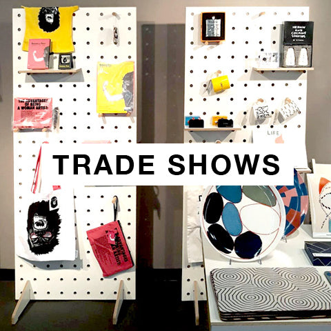 Trade shows exhibitions with bespoke freestanding pegboards by Kreisdesign