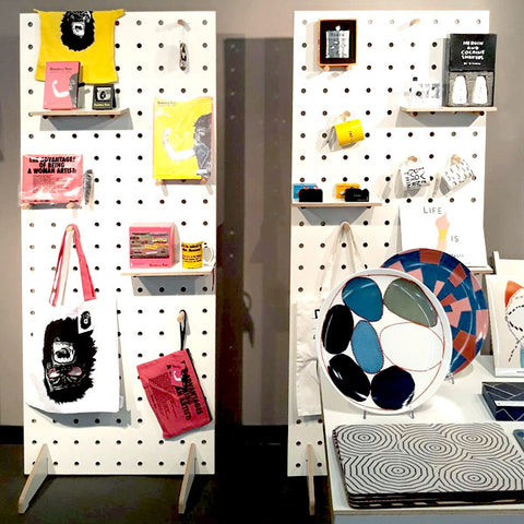 Custom freestanding pegboards for Turnaround Gifts for their trade show stand by Kreisdesign
