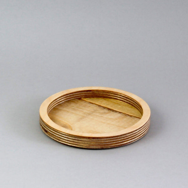 Small Round Desk Tidy - natural birch plywood