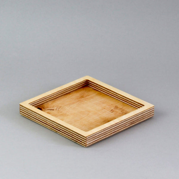 Small Square Desk Tidy - natural birch plywood