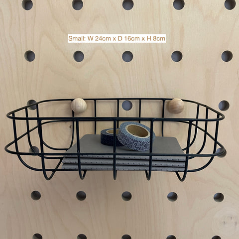 Shallow Baskets for Pegboards