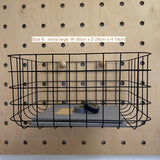 Large Baskets for Pegboards
