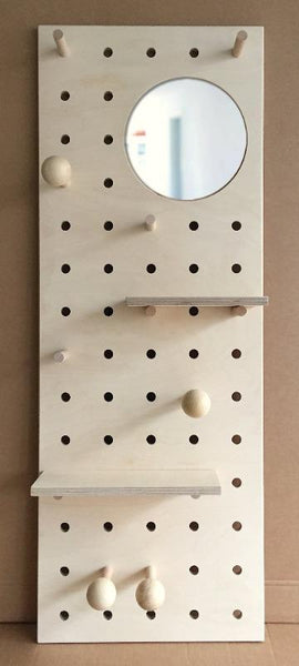 End of Line: Pegboard natural with Mirror