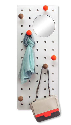 Peg-it-all with Mirror Pegboard: Wall-mounted Storage Panel