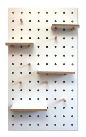 Pegboard White - small speck - 15% off
