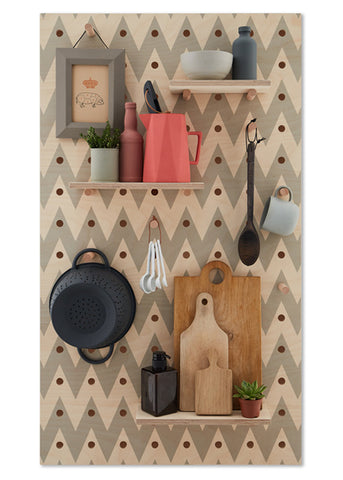 Peg-it-all Pegboard : Chevron Pattern