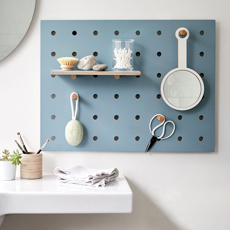 Peg-it-all Little Pegboard : Wall-mounted Storage Panel in Blue ...