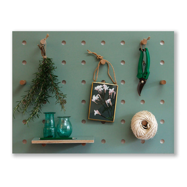 Peg-it-all Little Pegboard: Wall-mounted Storage Panel in Green