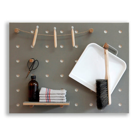 Peg-it-all Little Pegboard: Wall-mounted Storage Panel in Grey