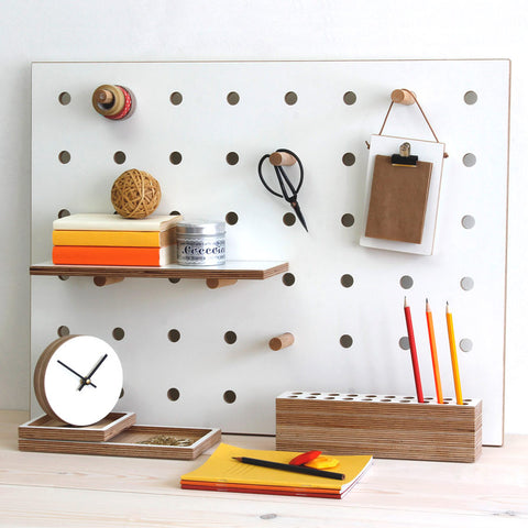 Peg-it-all Little Pegboard: Wall-mounted Storage Panel in white