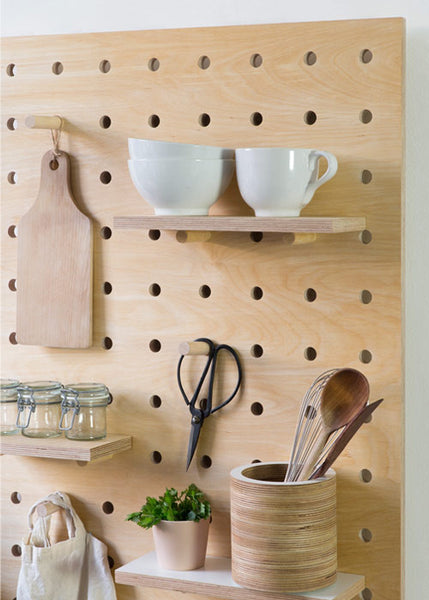 Peg It All Midi Pegboard Wall Mounted Storage Panel In