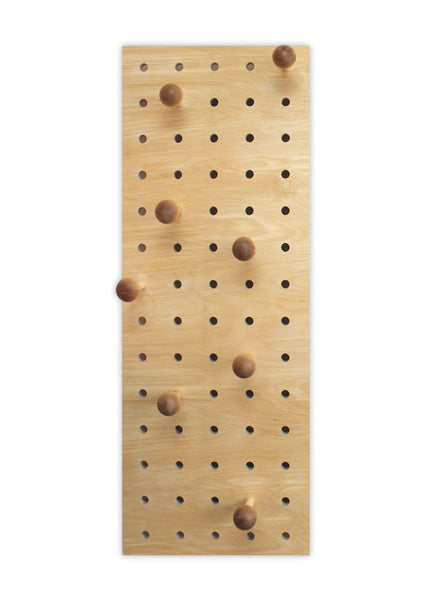 Peg-it-all Midi Pegboard: Wall-mounted Storage Panel in natural wood