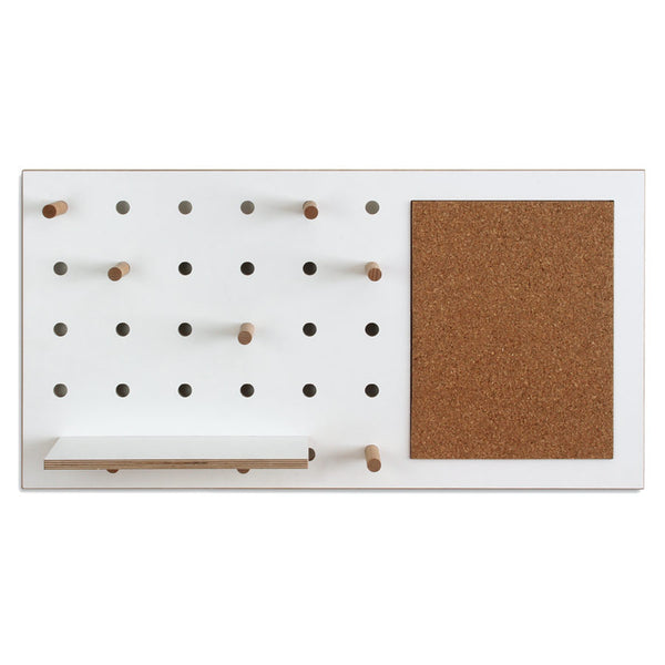 Peg It All Pin Pegboard Wall Mounted Storage Panel With