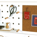 Peg-it-all Pin Pegboard: Wall-mounted Storage Panel with cork pin board