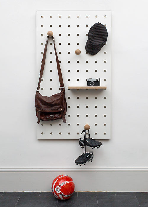... Peg-it-all Pegboard  Wall-mounted Storage Panel in white ... : pegboard wall storage  - Aquiesqueretaro.Com