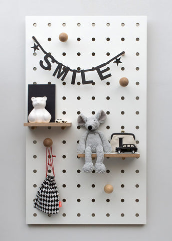 Pegboard White - black mark - 25% off