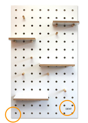 Pegboard White #05 - chip & dent - 40% off