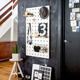 Peg-it-all Pegboard : Wall-mounted Storage Panel in white