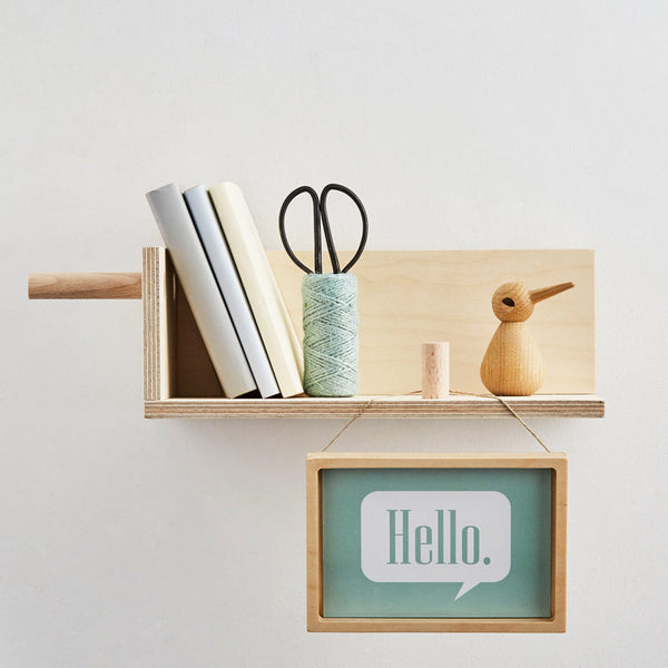 End of Line: CornerShelf - Floating Wooden Shelf Little