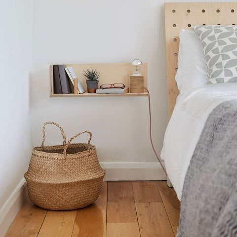 End of Line: CornerShelf - Floating Wooden Shelf - Midi