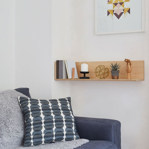End of Line: CornerShelf - Floating Wooden Shelf - Large