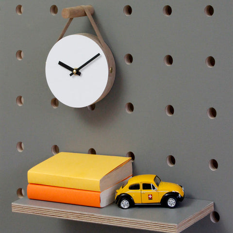 Wall Clock on leather string