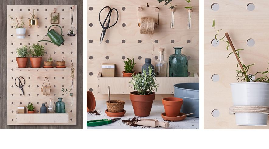 Gardener's Pegboard in Birch plywood by Kreisdesign