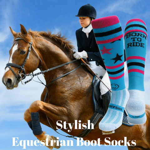Stylish Equestrian Boot Socks