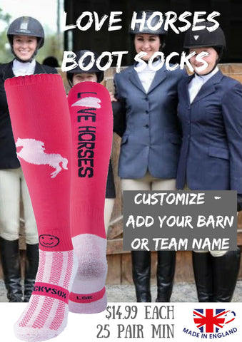 Customize equestrian boot socks